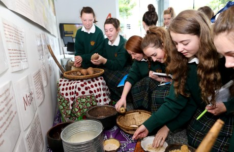 Students from Loretto Secondary School participate in an Irish Aid Centre workshop. Photo: Irish Aid.