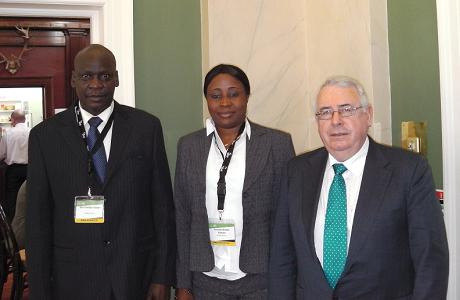 Minister of State, Joe Costello meets Sam Gibson, Mayor of Freetown and Sunkarrie Kabba
