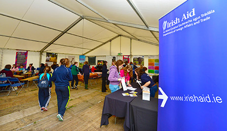 The Irish Aid tent at the 2014 Ploughing Championship