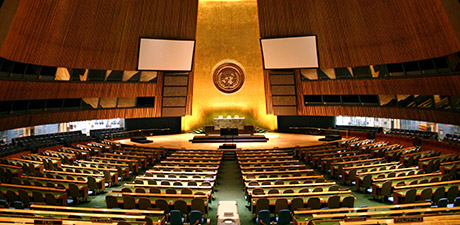 Picture of the UN General Assembly hall