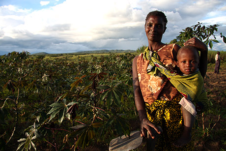 Mildred Malanga and son Kwasmas (2), Mbala District, Zambia can be assured of the nutrion needed to remain healthy.