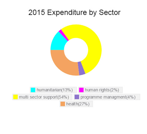 Expenditure by sector Ethiopia 2015