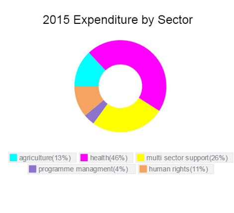 Expenditure by sector Tanzania 2015