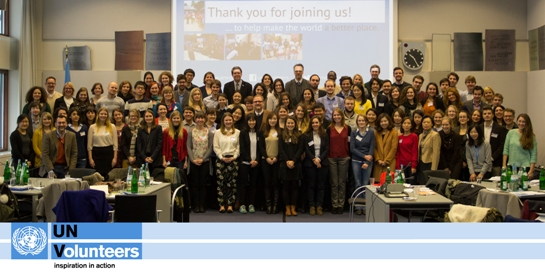 UN Youth Volunteers at training in Bonn, Germany in January 2014. Photo: UNV