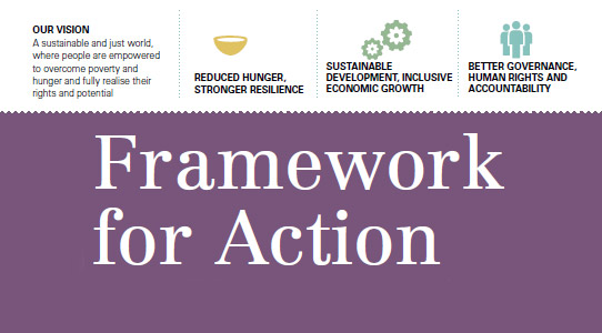 The Framework for Action will guide implementation of Ireland's Policy on International Development, One World One Future.