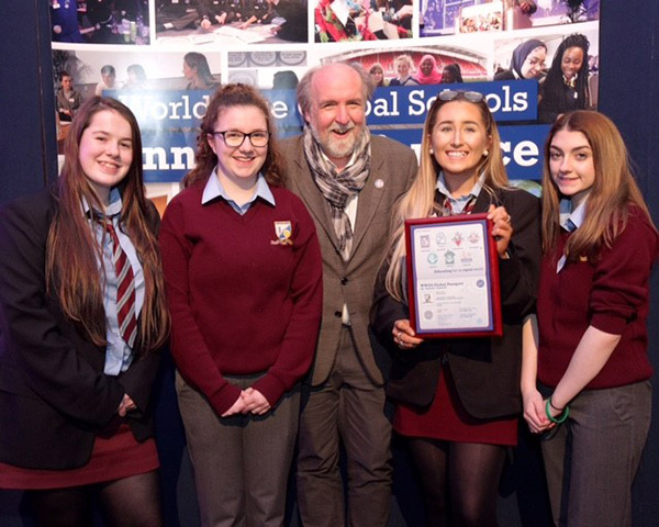 Michael Doorly with students from Millstreet Community School, Co Cork