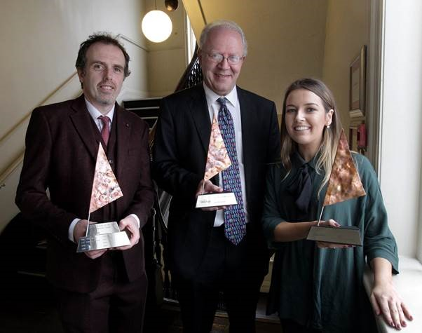 Dochas SDG 2017 Champion Award won by Development Perspectives.Stephanie Kirwan, Bobby McCormack Development Perspectives and David Donoghue