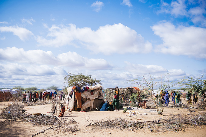 A new IDP camp at Dollow thats composed of new internally displaced people from Bay and Bakool - credit: Amunga Eshuchi/Trocaire